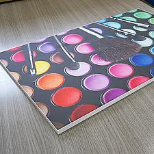 ソフケンファブリックフレーム、ポスターサイズの試作品、表面。