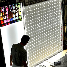 LED照明のテスト風景です。