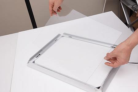 透明板を取り出します。