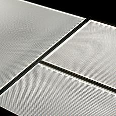 LEDパネル(導光板)のイメージ写真です。基本サイズは、規格サイズ8種をご用意しております。