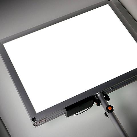 両面発光の軽量LEDプラカード+スタンド