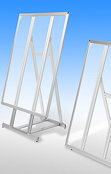 スタンドパネル LEDパネル 透過イメージ