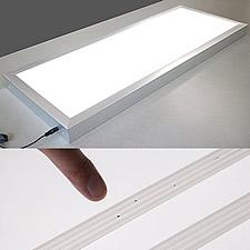 LEDパネル内蔵の検査テーブルです。樹脂製チューブの製品検査に使われています。均一でムラのない発光を実現しています。