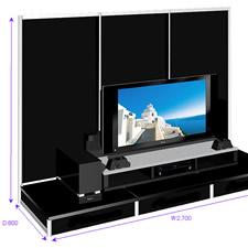 特注の商品展示スタンドのイメージCGです。