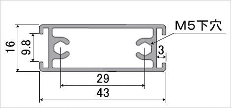 グリップフレーム 全角2断面図