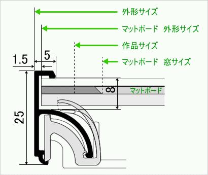 フォトマットG/UV断面図