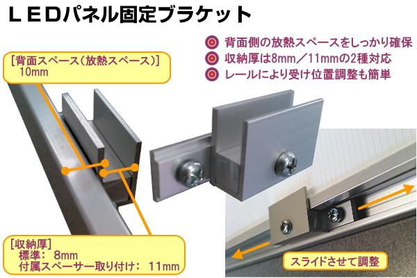 LEDパネル固定ブラケット LEDパネルの放熱性・収納性・取付作業性を考慮したLEDパネル固定用オプションパーツ