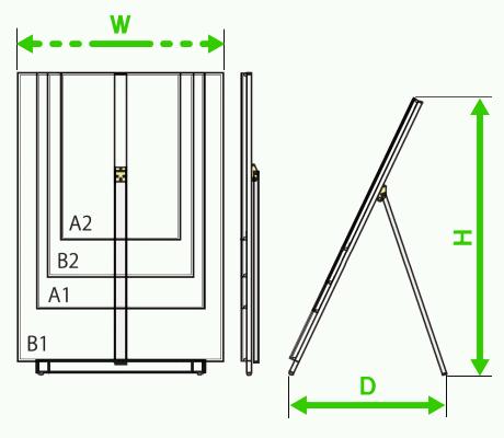 スタンドパネル寸法図