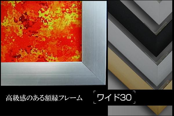 ワイド30 ポスターや絵画に最適な額縁フレームです。フレーム幅30mmで高級感のある雰囲気です。奥行き15mmなので、壁面にもスマートに取付できます。