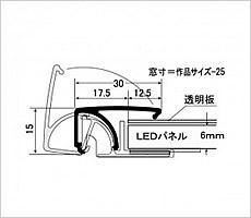 LEDパネル ラクライトの断面図です。