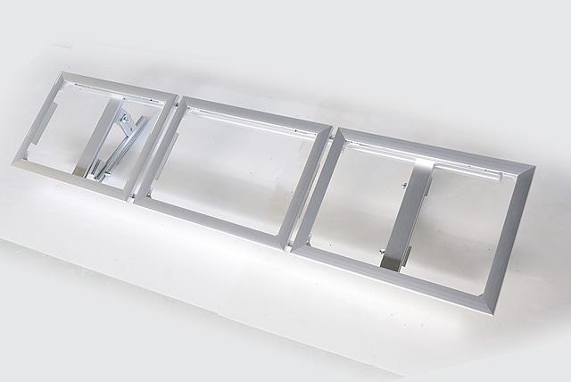 LED連結メニューボード 3連結 シルバー