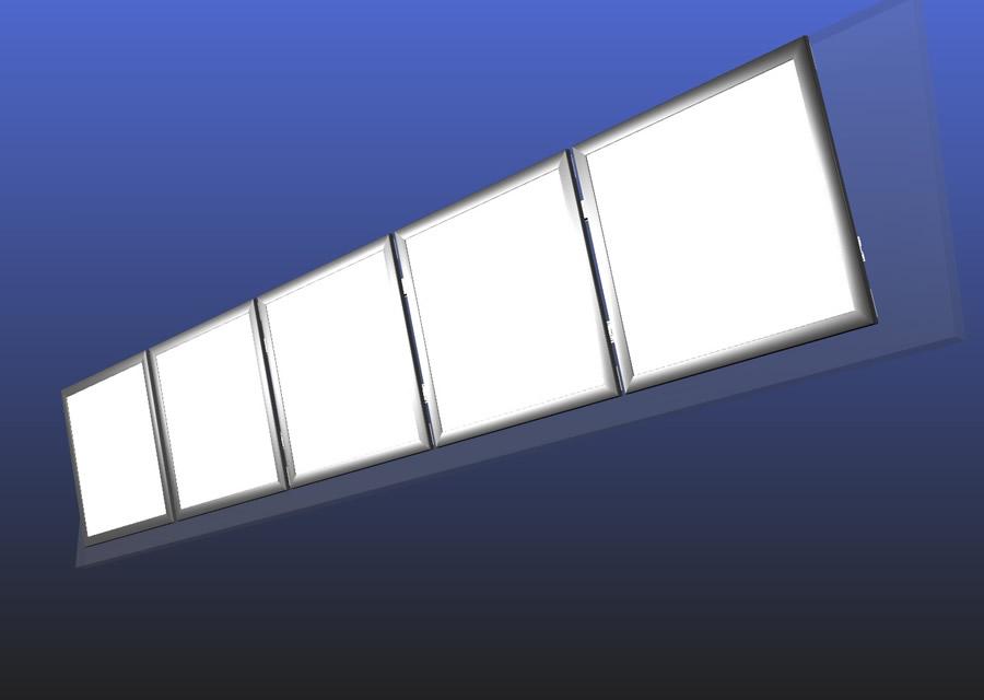 LED連結メニューボード 5連結 壁面取付