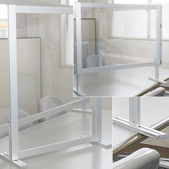 店舗レジ、受付カウンター等に《飛沫防止シート卓上スタンドタイプ》製品イメージ