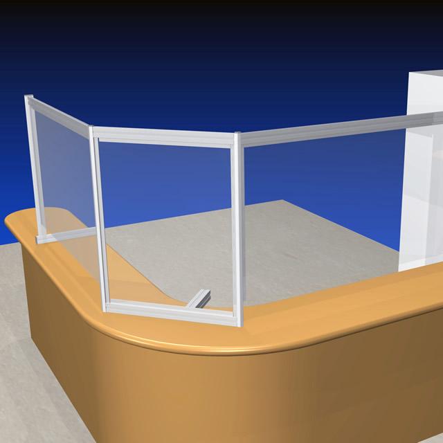 ビニールシートを吊り下げた簡易的な飛沫感染防止のイメージ(2)