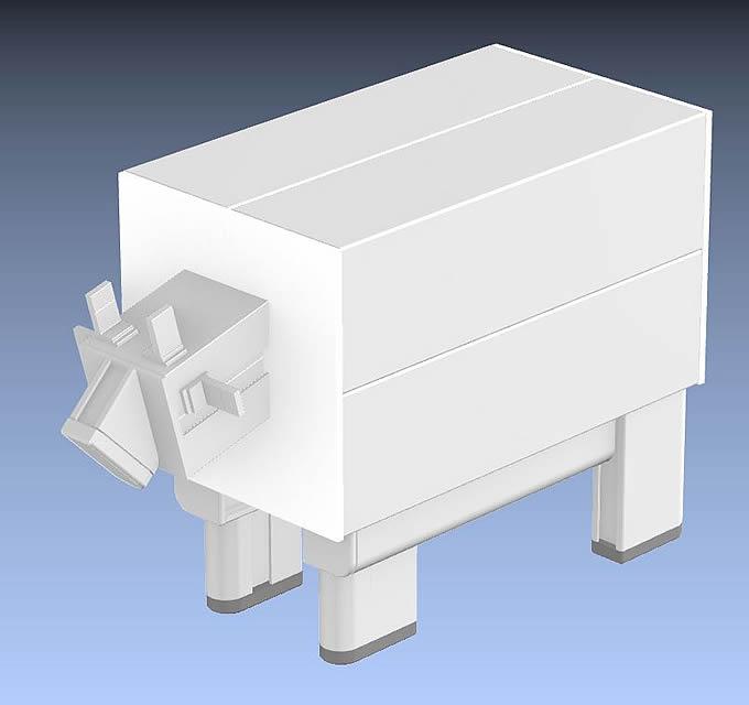 牛モデルのイメージCG、完成予想