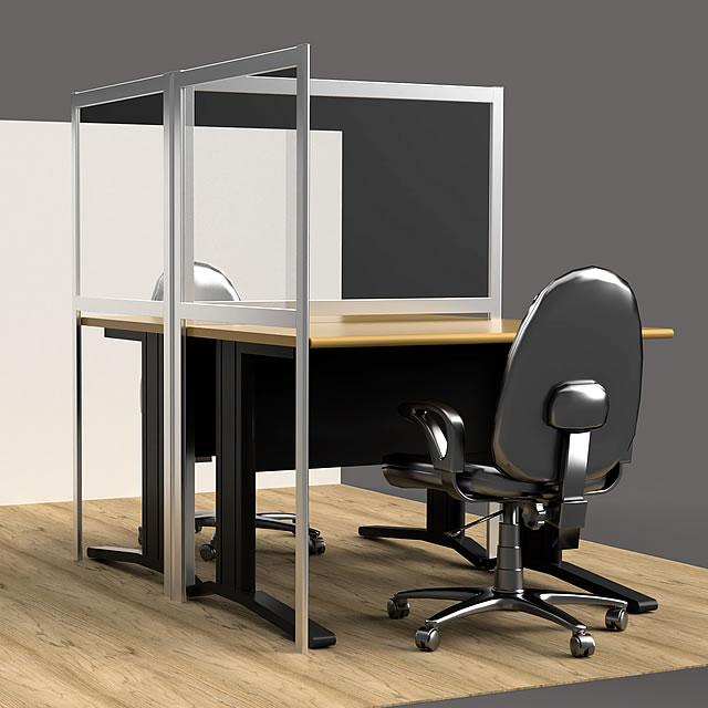 オフィス用パーテーション、導入イメージCG(1)