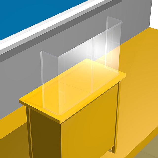 飛沫防止シート 簡易仕切りタイプ 教室での使用イメージ(4)
