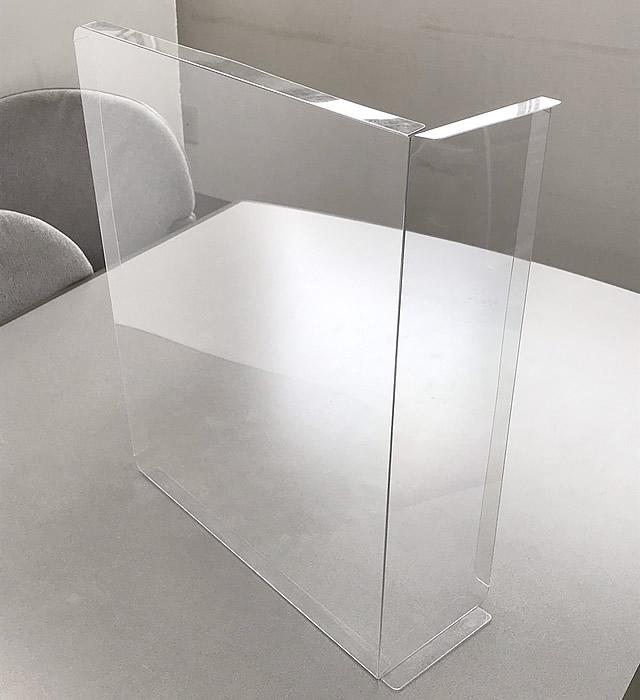 飛沫防止シート 簡易仕切りタイプ 屏風状に組み合わせたイメージ