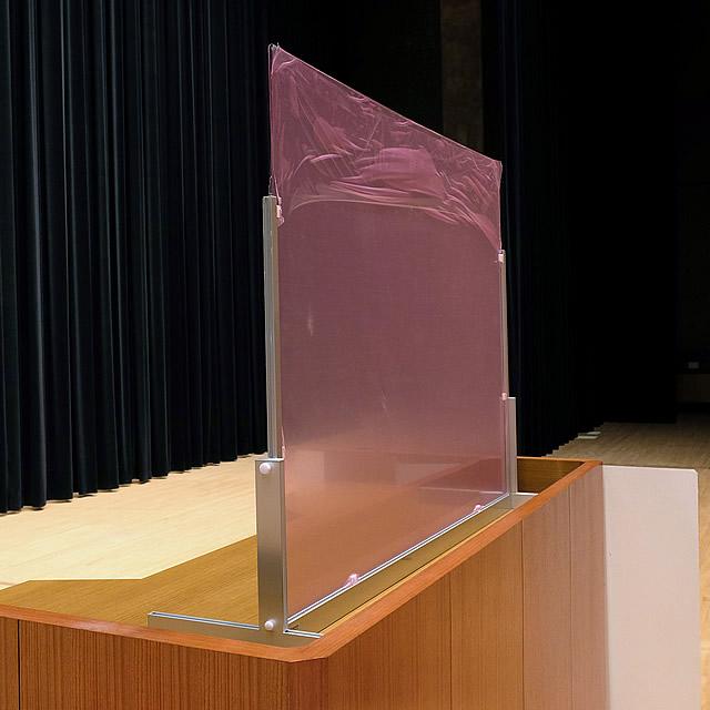 講演台用飛沫感染防止パーテーション 設置イメージ写真(1)