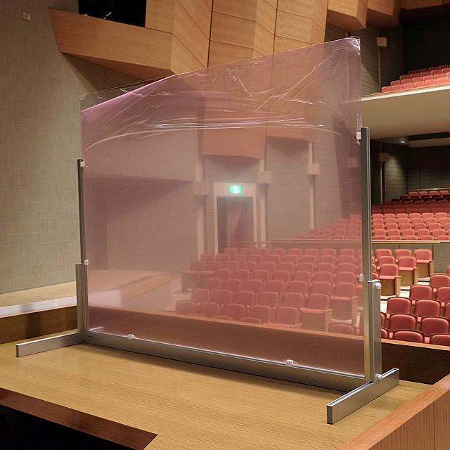 講演台用飛沫感染防止パーテーション 設置イメージ写真(2)