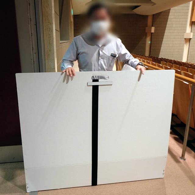 講演台用飛沫感染防止パーテーション 設置イメージ写真(4)