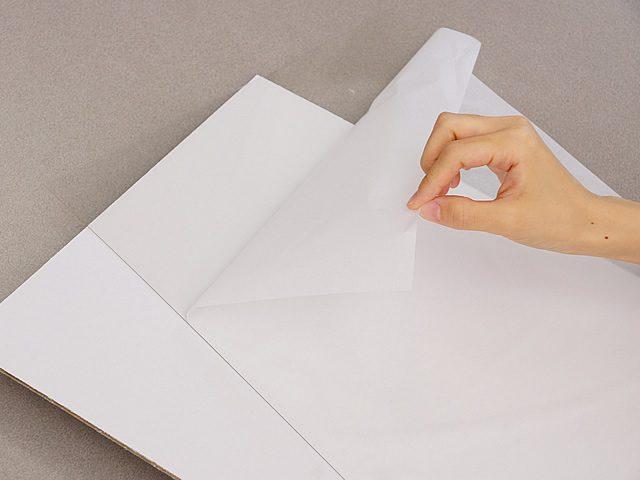 透明板の保護紙を剥がしてください。(2)